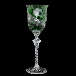 Zelená přejímaná sklenice