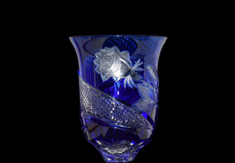 Modrá sklenice